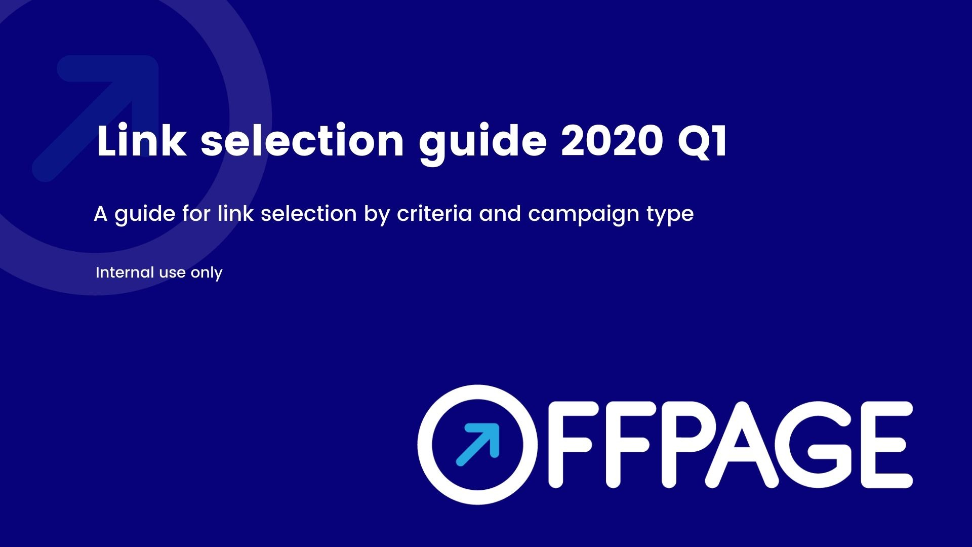 Link selection